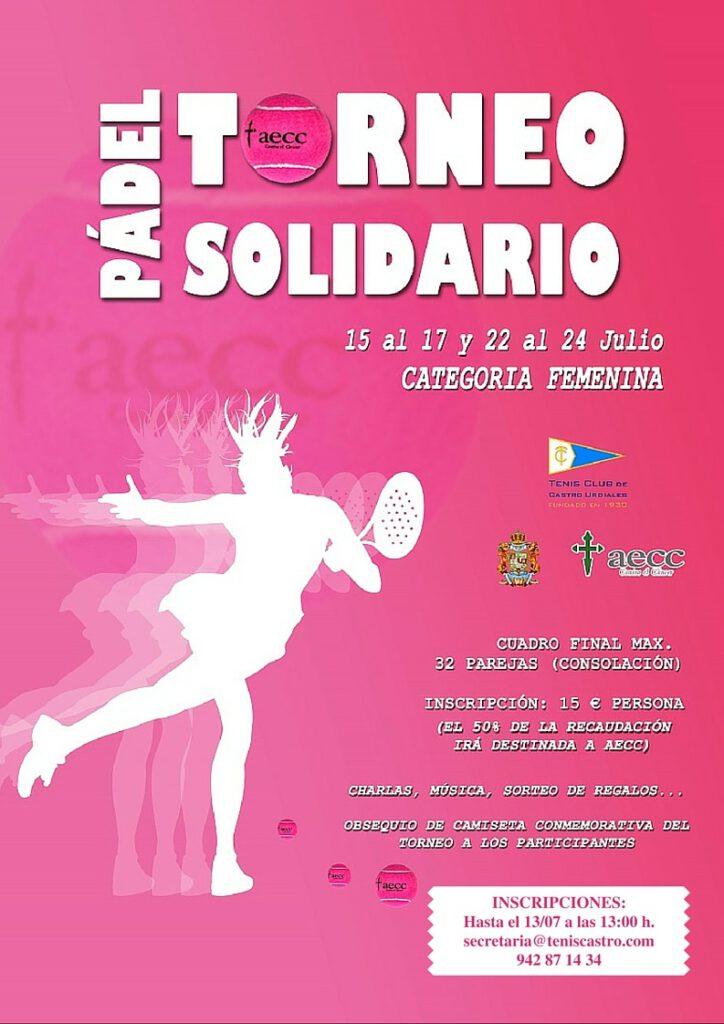 Torneo padel solidario AECC categoria femenina Tenis Castro