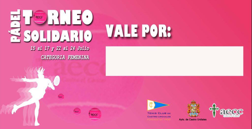vales Rifa Solidaria Tenis Castro