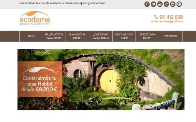 diseño web casa hobbit
