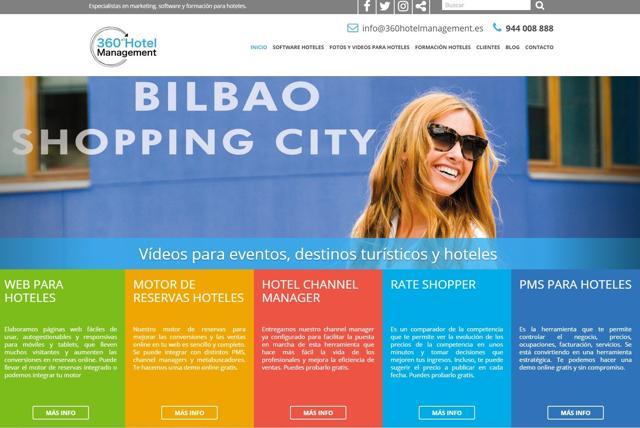diseño web 360 hoteles