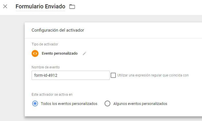 Registrar el envío de formularios Contact Form 7 mediante activador